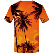 KYKU Coconut Tree T shirt Men Beach Funny shirts Harajuku Tshirt Printed Nebula Shirt Print Novel T-shirts 3d Short Sleeve