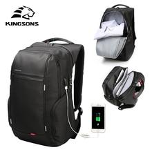 Kingson حاسوب محمول عالي الجودة على ظهره الرجال النساء موضة الأعمال حقيبة السفر حقيبة كتف عادية مع USB الخارجية تهمة