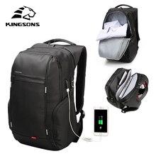 Kingsons Hoge Kwaliteit Laptop Rugzak Mannen Vrouwen Mode Business Casual Rugzak Schoudertas Met Externe Usb Lading