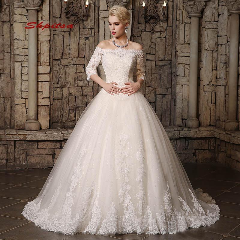 Lace Wedding Dresses Princess Plus Size Tulle Women Wedding Gowns Ball Gown Bridal Bride Dresses Weddingdress