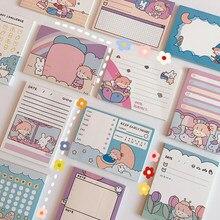 1 szt. Śliczne 50 arkuszy dziewczyny papierowe notatniki notatnik studenckie kartki samoprzylepne Do zrobienia List terminarz tygodniowy naklejki koreańskie piśmiennicze