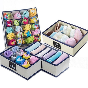 home bra storage box socks box bins underwear organizer box storage organizer dust cover storage bag