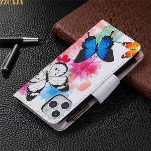 Image 5 - Zipper Case for Huawei P50 P40 Lite E P Smart 2021 2020 PSmart Z Nova 4E P40Pro Cover Leather Flip Card Slots Stand Wallet Strap