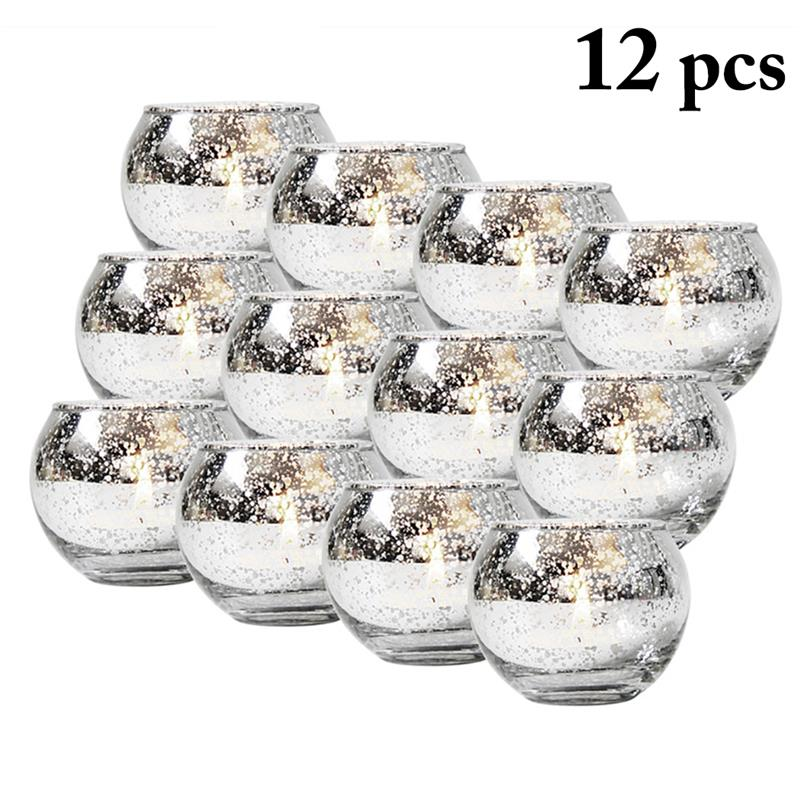 12pcs Creative Votive Candle Holder Decorative Spot Glass Tealight Candle Holder Home Crafts Decor Candle Holders Aliexpress