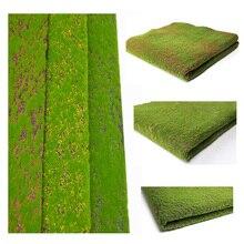 דשא צעצועי מודל בקנה מידה רכבת נוף דשא דשא מחצלת חיצוני נוף מיקרו בעבודת יד חול שולחן בניין בפלאש חומר ביצוע