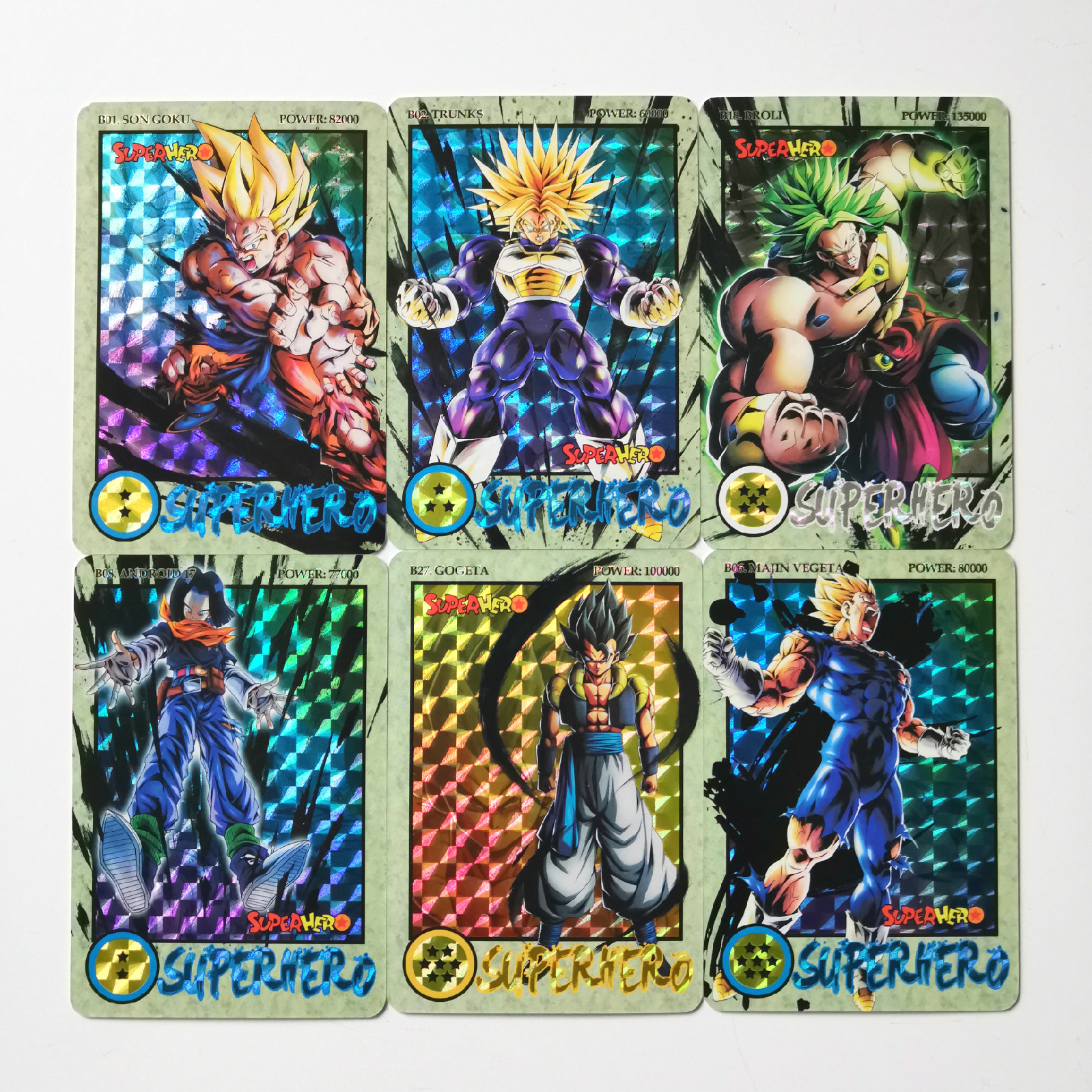 27pcs/set Super Dragon Ball Z Ink Relief Heroes Battle Card Ultra Instinct Goku Vegeta Game Collection Cards