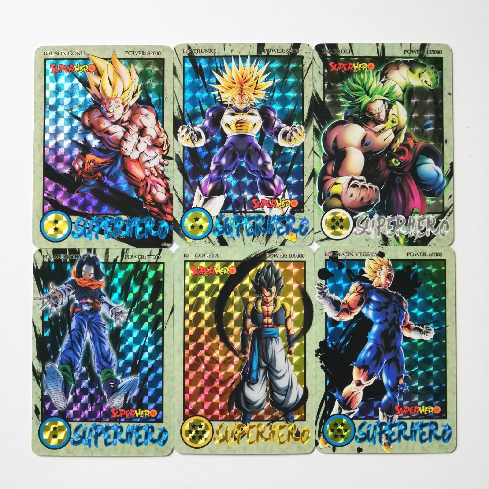 27pcs/set Super Dragon Ball Z Ink Relief Heroes Battle Card Ultra Instinct Goku Vegeta Game Collection Cards