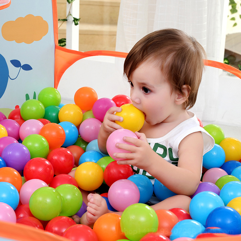 Plastic Balls Balls For Dry Pool Funny Kid Swim Pit Toy  Dry Pool Wave Game Eco-Friendly Colorful Soft Ocean Sphere