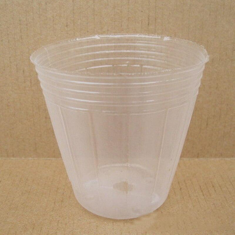 10PCS Transparent Pot Nutrition Bags Nursery Cup Bowl Plastic Flower Pot Seeding Planting Propagators