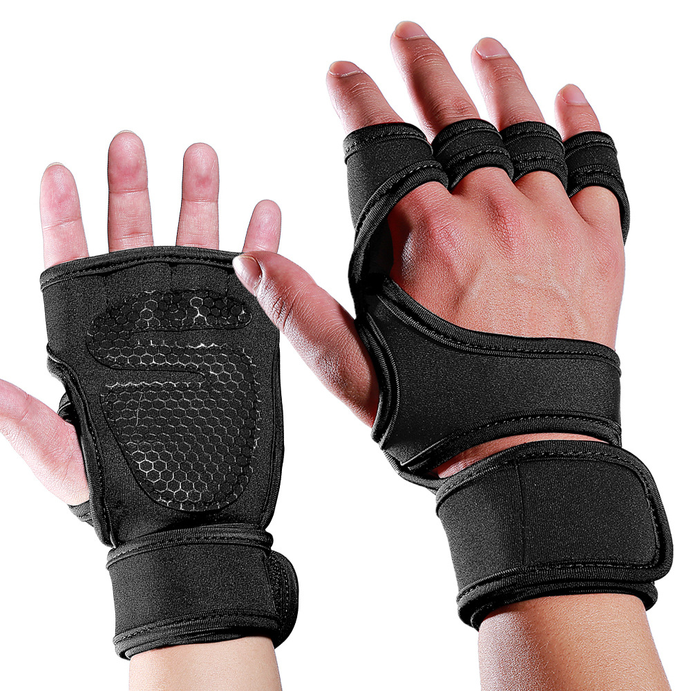 Gym <font><b>Gloves</b></font> Weight Lifting Training <font><b>Gloves</b></font> <font><b>Women</b></font> Men <font><b>Fitness</b></font> Sports Body Building Gymnastics Grips Gym Hand Palm Protector image