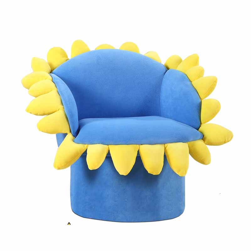 Sun Flower Kids Sofa Cartoon Fabric Art Sofa Chair Kindergarten Lovely Baby Small Sofa Single Person Zitzak Bean Bag One Seat