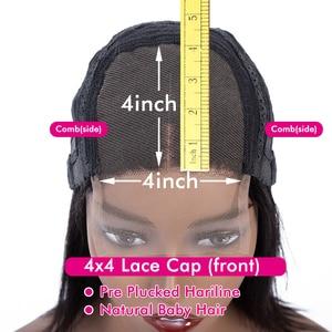 Image 5 - עמוק גל 13x4 תחרה מול שיער טבעי פאות 4x4 תחרת סגירת פאה ברזילאי שיער טבעי פאה מראש קטף פאות לנשים 28 30 אינץ