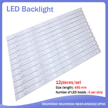 جديد 12 قطعة/مجموعة 490 مللي متر LED شريط إضاءة خلفي ل 50UH5500 50UH5530 5835 W50002 2P00 5800 W50002 0P00 6P10 2P00 6P00 APT LB14023