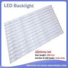 new 12 pieces/set 490mm LED backlight strip for 50UH5500 50UH5530 5835 W50002 2P00 5800 W50002 0P00 6P10 2P00 6P00 APT LB14023