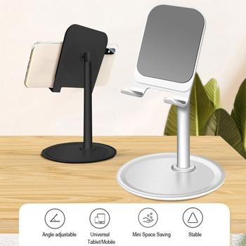 Uniwersalny regulowany uchwyt na telefon stacjonarny dla Tablet mobilny biurko stół uchwyt na telefon Cradle tanie i dobre opinie auswaur DESKTOP Metal