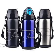 800ML Thermos Stainless Steel Insulation Pot Portable Travel Kettle Tea Vacuum Bottle Outdoor Sports Vacuum Flask Hot Water Cup