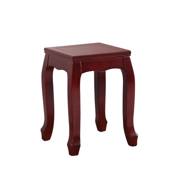 Solid wood square stool creative small stool home dining table stool chinese style stackable stool chair makeup stool