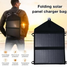 Portable Foldable Solar Panel Powered Charger Charging Board Mobile Phone Power Bank for Outdoor Camping Hiking Use