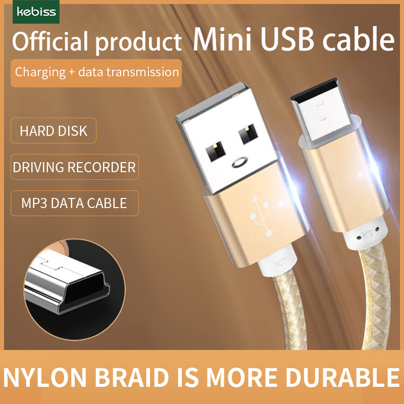 Kebiss mini cabo usb t-port mp3 carro gravador de condução samsung disco rígido móvel idosos cabo de carregamento de energia de rádio do telefone móvel