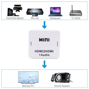 Image 5 - Hot 3C 1080P Hdmi Extractor Splitter Hdmi Digital To Analog 3.5Mm Out Audio Hdmi2Hdmi