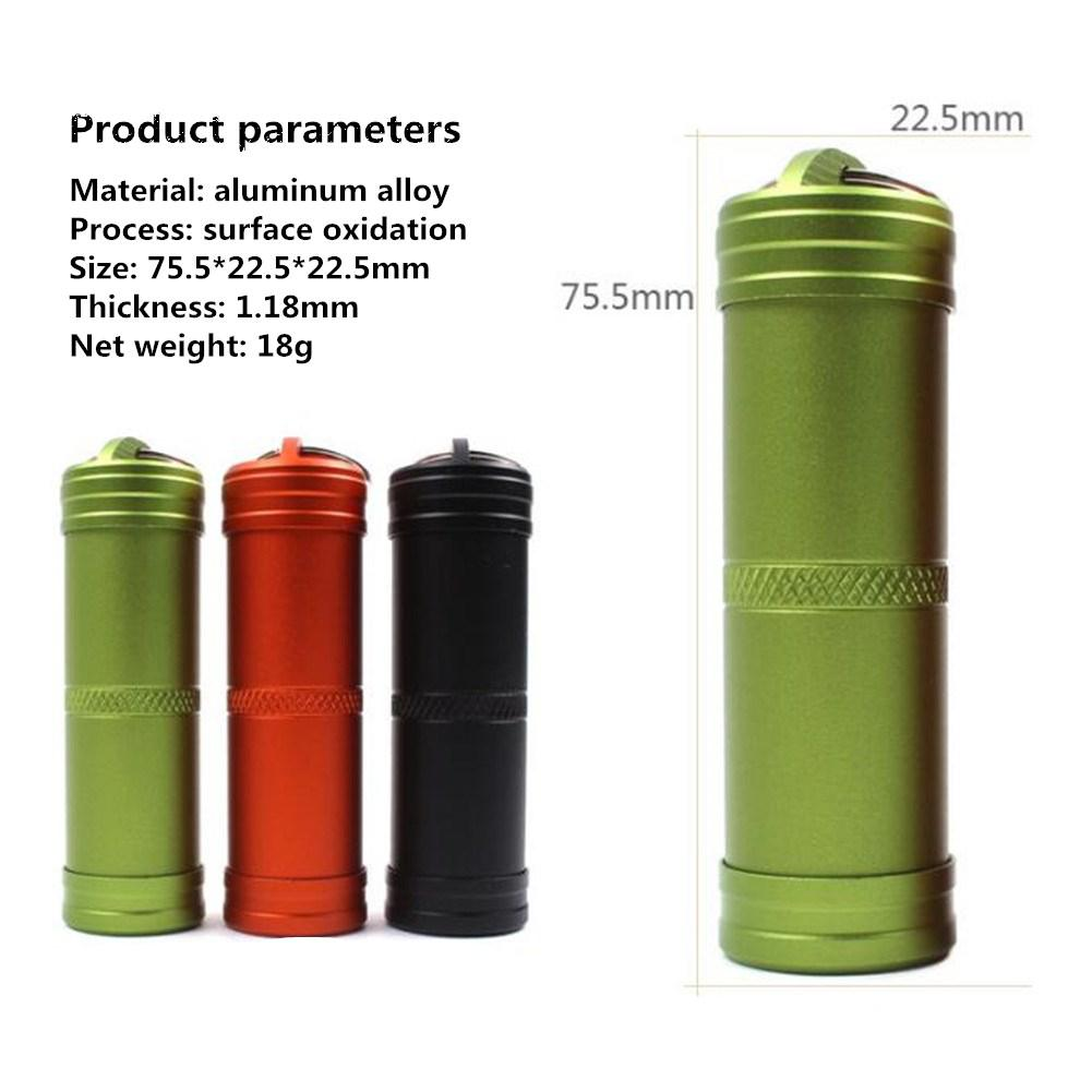 HobbyLane Hot Sale Aluminum Alloy Bottle Kits Outdoor Keychain Waterproof First Aid Pill Key Chain Seal Kit Free Shipping in Safety Survival from Sports Entertainment