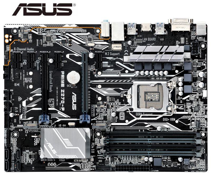 ASUS PRIME Z270-P Motherboard LGA 1151 DDR4 USB3.1 64GB VGA HDMI Z270 Used Desktop Mainboard