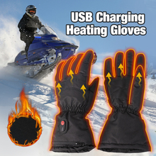 Motorcycle Heated Gloves USB Rechargeable Electric Heated Gloves Winter Warm Waterproof Gloves For Motorbike Racing Riding