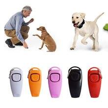 1 adet köpek eğitim düdük Clicker Pet köpek eğitmeni yardım kılavuzu köpek düdük Pet ekipmanları köpek ürünleri evcil hayvan malzemeleri 10 renkler
