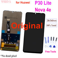 Oryginalny 6.15 ''LCD dla Huawei P30 Lite wyświetlacz LCD ekran dotykowy Digitizer zgromadzenie dla Huawei P30 Lite Nova 4e MAR-LX1 LX2 AL01
