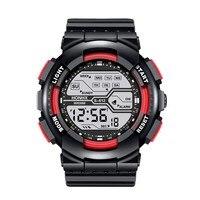 Reloj de moda impermeable para hombre y niño, cronómetro Digital Lcd, reloj de pulsera deportivo de goma, automático, de lujo, mecánico