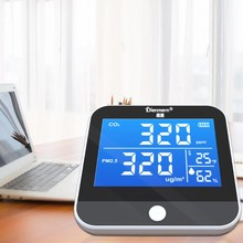 Detector de co2 dióxido carbono pm2.5 temperatura umidade monitor qualidade do ar ndir w8ea