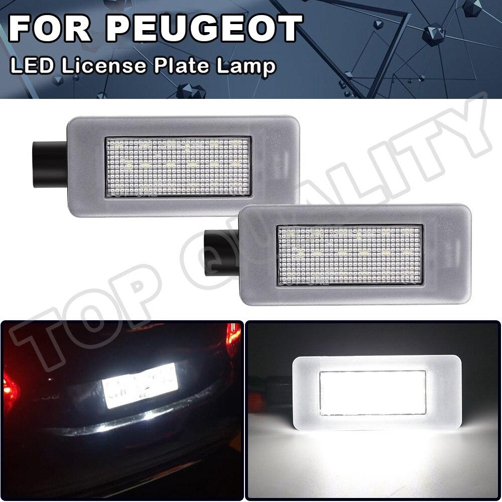 2X светодиодные лампы для заднего номерного знака без ошибок для Peugeot 308 II 2 MK2 3008 II 208 2008 207 CC, яркая белая лампа