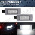 2X ошибок светодиодный задний номерной знак светильник лампы для Peugeot 308 II 2 MK2 3008 II 208 2008 207 CC яркий белый светодиодный светильник