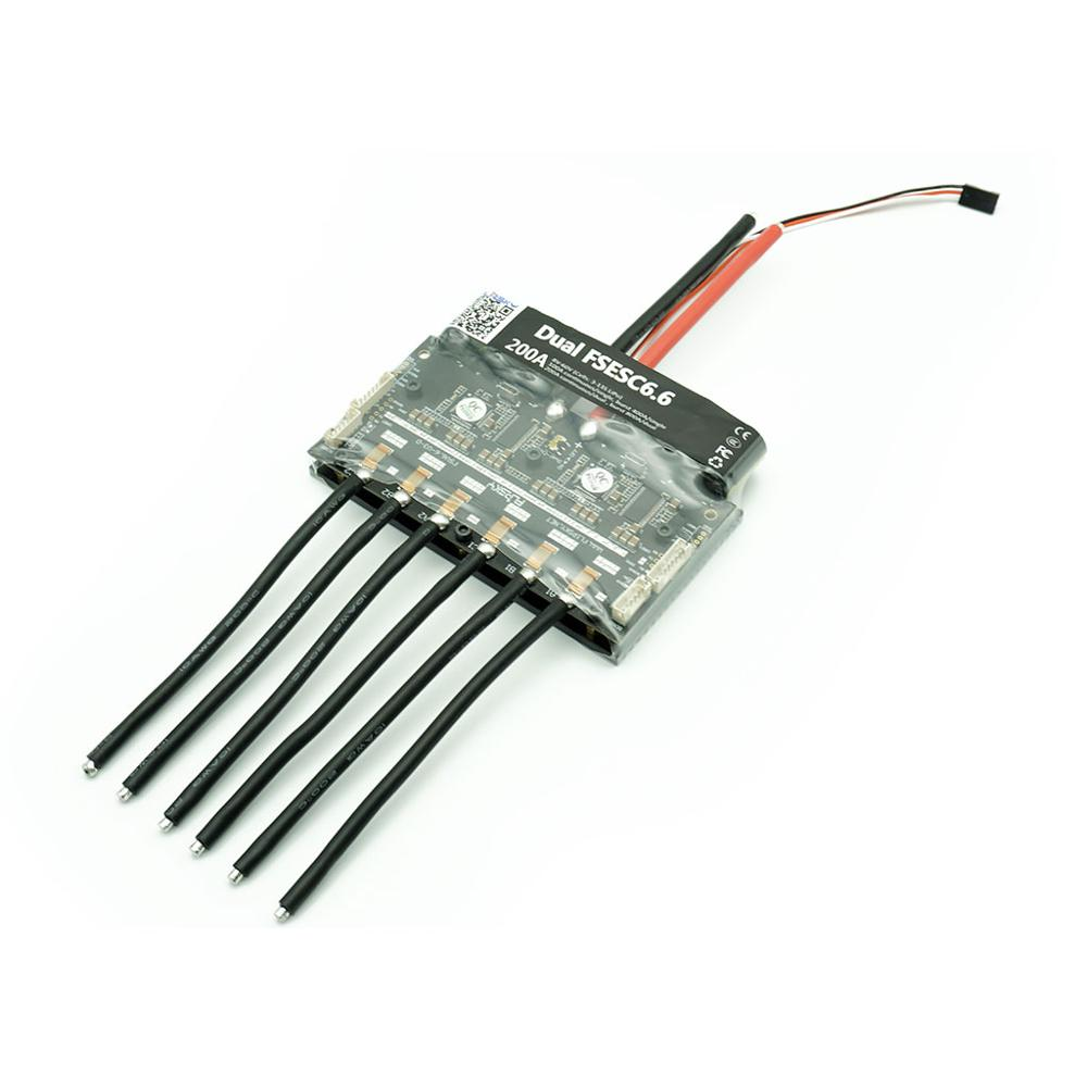 Dual 200A Esc For Electric Surfboard Dual FSESC6.6 Based Upon VESC6 Rc Car Drone E-Bike Electraic Speed Controller Flipsky