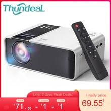 ThundeaL HD Mini Proyector TD90 nativa de 1280 x 720P LED Android WiFi Proyector de vídeo soporta 1080p HD doméstico cine en casa 3D juego de la película pantalla grande de Proyector,compatible con AC3