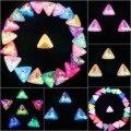 Необычные стеклянные кристаллы 18 мм желе конфеты AB & радужные цвета треугольная форма Клей На Стразы бусины аппликация рукоделие diy отделка