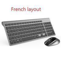 Tastiera francese mouse wireless azerty adatta per giochi PC player IMAC TV Tastiera francese mouse wireless tastiera gioco