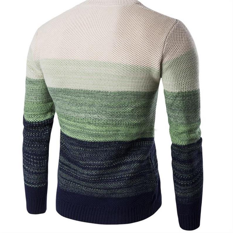 Sweater Men 2019 Brand Thickening Pullover Sweater Male O-Neck Splicing Slim Fit Knitting Mens Sweaters Man Pullover Men XXL