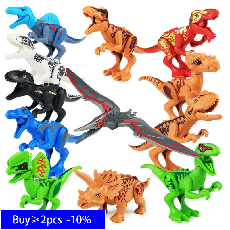 Single Sale Jurassic Dinosaurs World Park Set Building Blocks T-Rex World Dino Compatible Legoingly Bricks Toys Children Gifts
