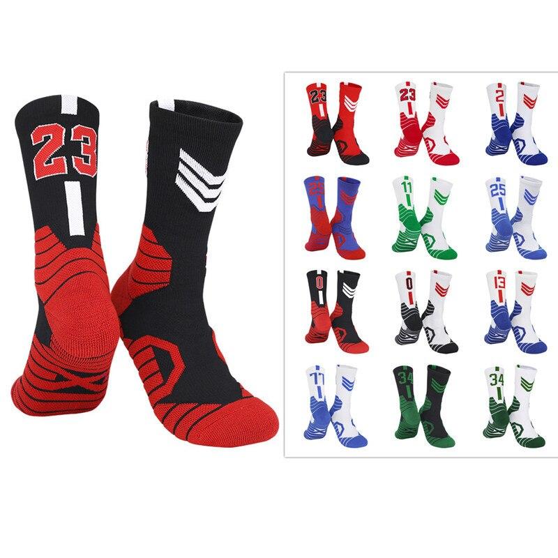 Профессиональные баскетбольные носки, спортивные для детей и мужчин, быстросохнущие дышащие нескользящие носки для активного отдыха, езды на велосипеде, скалолазания, бега для взрослых
