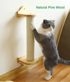 Wall-Mounted Cat Scratching Post Cat Tree Sisal Scratching Post Shelf Pet Kitten Scratchers Board Toys Kitten Climbing Frames 1