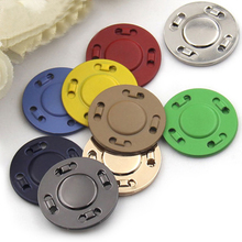 3set/bag QJH Sewing Supplies Magnet Stone Dark Buckle Automatic Magnetic Buttons DIY Bag Double Sided Magnet Button 20mm Size