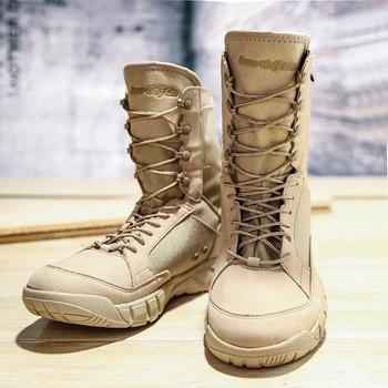 Botas militares de seguridad para hombre zapatos de deporte de senderismo zapatillas de tobillo botas