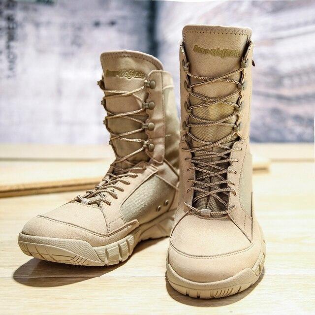 Botas militares de seguridad para hombre zapatos de deporte de senderismo zapatillas de tobillo botas de