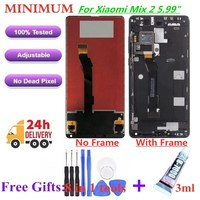 For Xiaomi Mi Mix 2 Mix2 5.99 LCD Display Touch Screen Digitizer Assembly With Frame For Xiaomi MiMix2 MiMix 2 Replacement LCDs