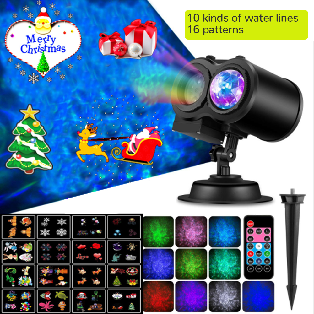 2 In 1 Water Wave Projector Light With