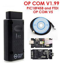 Herramienta de diagnóstico profesional para coche Opel, dispositivo de diagnóstico automático con Flash, con PIC18F458 FTDI Op Com OBD2, para autobús Opel, V1.70