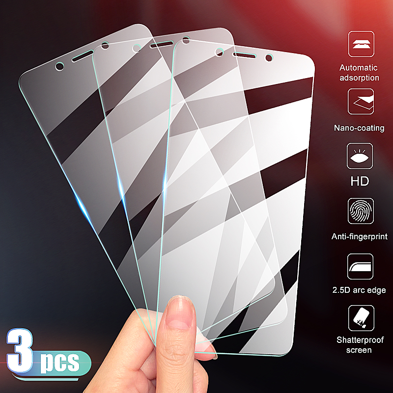 3-1Pcs Tempered Glass For Xiaomi Redmi 6 Pro 6A 7 7A 5 Plus 5A K20 Go S2 Screen Protector Redmi Note 5 5A Protective Glass Film