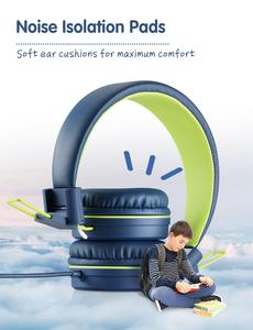 Image 4 - Mpow CH8 dzieci przewodowe słuchawki śliczne składane słuchawki z 85dB ograniczona regulacja głośności i Mic składane zestawy słuchawkowe prezenty dla dzieci