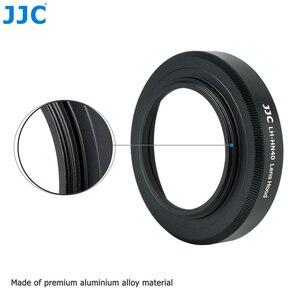 Image 2 - JJC Metal Screw in Lens Hood for Nikon Z50 Camera + Nikkor Z DX 16 50 F/3.5 6.3 VR Lens Replace Nikon HN 40 Lens Shade Protector